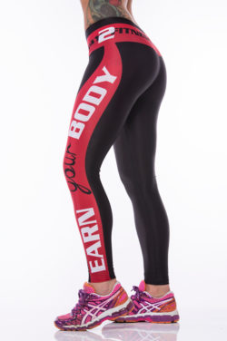 Sportlegging MyWay2Fitness - Earn Your Body Rood-2