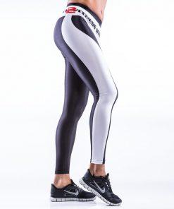 Sportlegging MyWay2Fitness - Earn Your Body Zwart-Wit-2