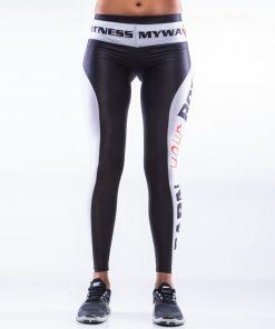 Sportlegging MyWay2Fitness - Earn Your Body Zwart-Wit