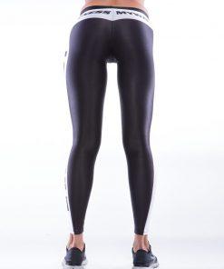 Sportlegging MyWay2Fitness - Earn Your Body Zwart-Wit-back