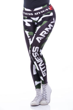 Sportlegging MyWay2Fitness - Fitness Army Groen-1