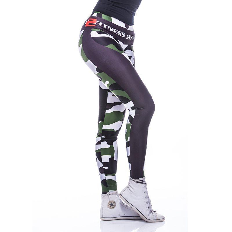 Sportlegging MyWay2Fitness - Fitness Army Groen-4