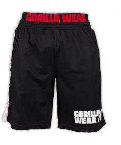 Gorilla Wear California Mesh Shorts Zwart-Rood-1