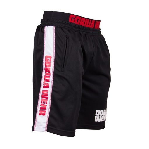 Gorilla Wear California Mesh Shorts Zwart-Rood-2