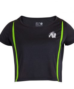 Gorilla Wear Columbia Crop Top Zwart-Groen-1
