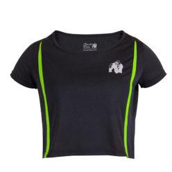 Gorilla Wear Columbia Crop Top Zwart-Groen-1