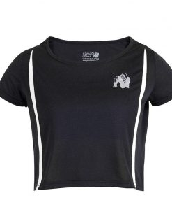 Gorilla Wear Columbia Crop Top Zwart-Wit-1