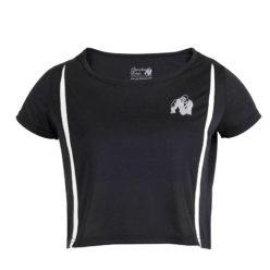 Gorilla Wear Columbia Crop Top Zwart-Wit-1