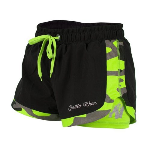 Gorilla Wear Denver Shorts Zwart-Groen -1
