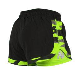 Gorilla Wear Denver Shorts Zwart-Groen -2