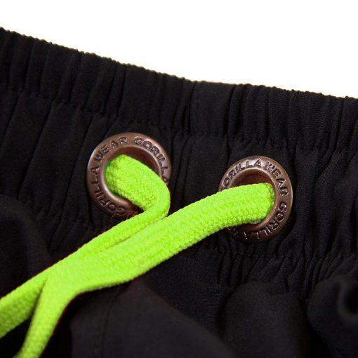 Gorilla Wear Denver Shorts Zwart-Groen -3