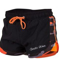 Gorilla Wear Denver Shorts Zwart-Oranje -1