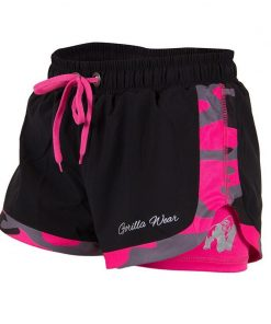 Gorilla Wear Denver Shorts Zwart-Roze -1