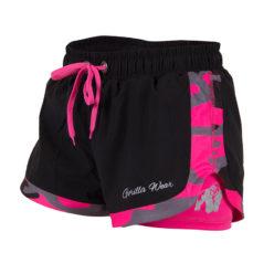Gorilla Wear Denver Shorts Zwart-Roze -1