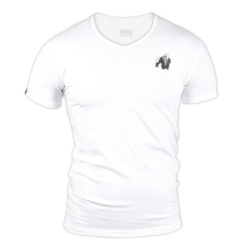 Gorilla Wear Essential V-Neck Wit-1
