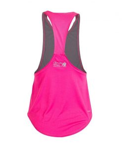 Gorilla Wear Florida Stringer Tank Top Grijs-Roze-2