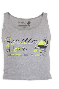 Gorilla Wear Oakland Crop Top Grijs-Groen-1