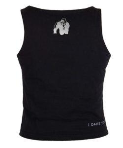 Gorilla Wear Oakland Crop Top Zwart-Groen-2