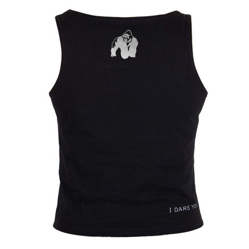 Gorilla Wear Oakland Crop Top Zwart-Groen-2
