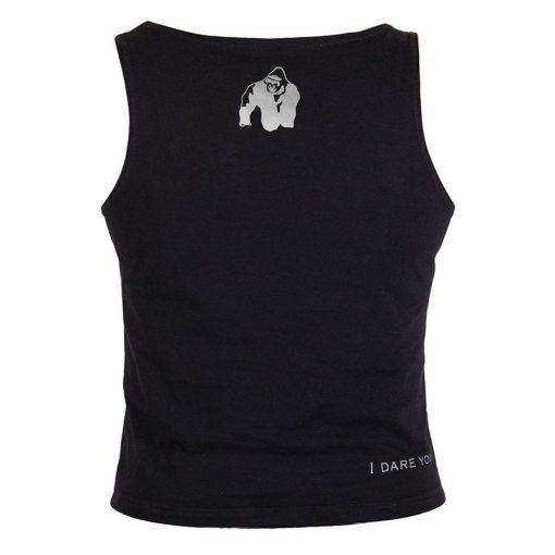 Gorilla Wear Oakland Crop Top Zwart-Oranje-2