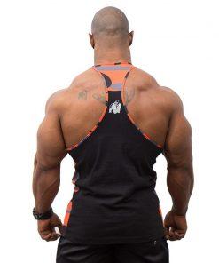 Gorilla Wear Sacramento Mesh Tank Top Zwart-Oranje-2