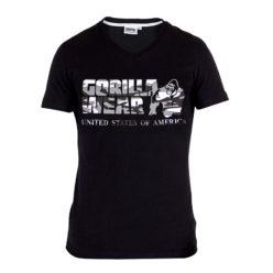 Gorilla Wear Sacramento V-Neck Zwart-Wit-1