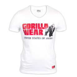 Gorilla Wear Utah V-Neck Wit-1