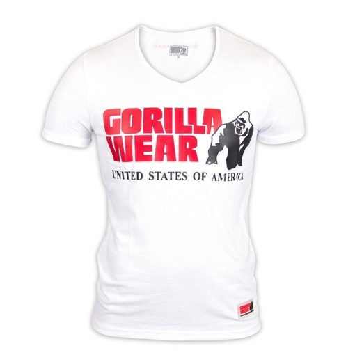 Gorilla Wear Utah V-Neck Wit-1