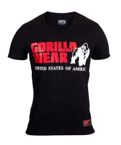Gorilla Wear Utah V-Neck Zwart-1
