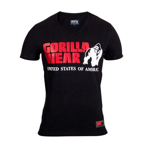 Gorilla Wear Utah V-Neck Zwart-1