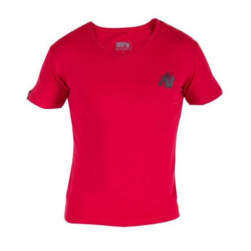 Gorilla Wear Essential V-Neck Rood voorkant