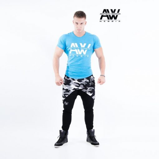 Nebbia T-Shirt 112 - Bodybuilding T-Shirt Blauw-1