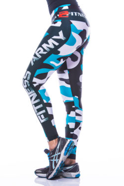 Sportlegging-MyWay2Fitness - Fitness Army - turquoise-2