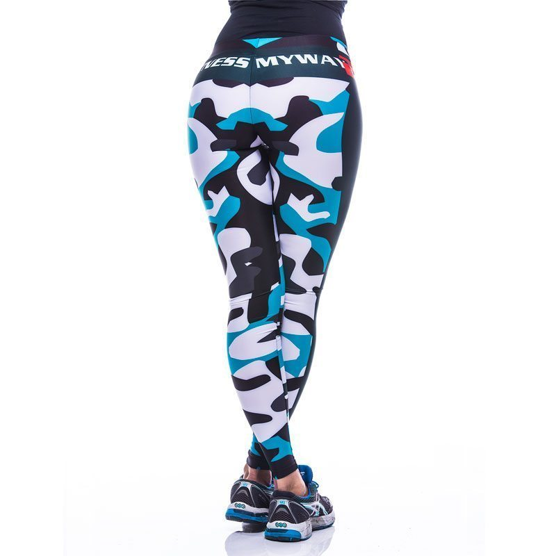 Sportlegging-MyWay2Fitness - Fitness Army - turquoise-3