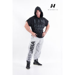 bodybuilding hooded t-shirt zwart - nebbia hard core regtop hoodie 311-1