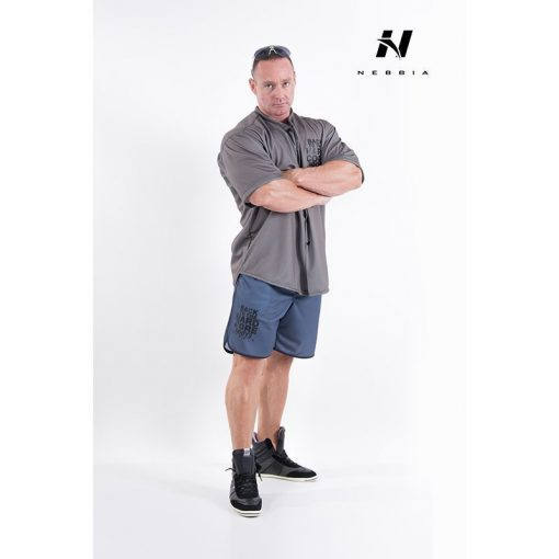 bodybuilding shirt grijs nebbia hard core button shirt 304-2