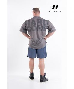 bodybuilding shirt grijs - nebbia hard core button shirt 304-3