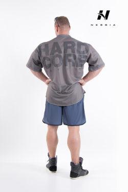 bodybuilding shirt grijs - nebbia hard core button shirt 304-3