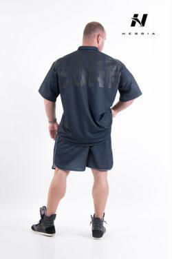 bodybuilding shirt zwart - nebbia hard core button shirt 304-2