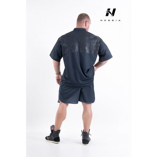 bodybuilding shirt zwart - nebbia hard core button shirt 304-2