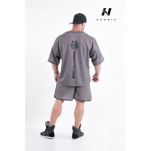 bodybuilding shirt grijs - nebbia hard core button shirt 304-2