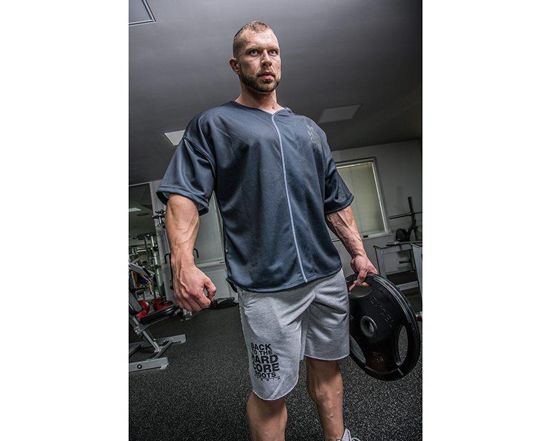 bodybuilding shorts lichtgrijs - nebbia hard core 344-1