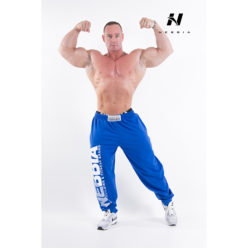 bodybuilding sweatpants blauw - nebbia hard core sweatpants 310-1