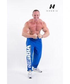 bodybuilding sweatpants blauw - nebbia hard core sweatpants 310-2
