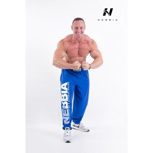 bodybuilding sweatpants blauw - nebbia hard core sweatpants 310-2
