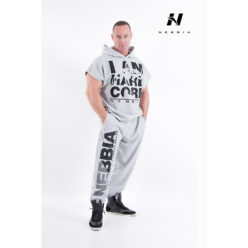 bodybuilding sweatpants lichtgrijs - nebbia hard core sweatpants 310-1