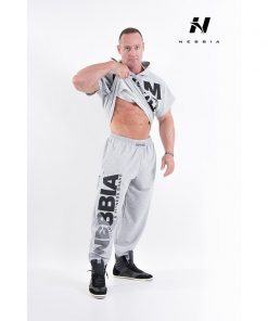 bodybuilding sweatpants lichtgrijs - nebbia hard core sweatpants 310-2