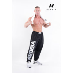 bodybuilding sweatpants zwart - nebbia hard core sweatpants 310-1