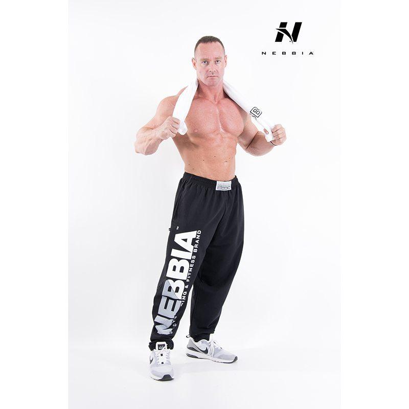 bodybuilding sweatpants zwart - nebbia hard core sweatpants 310-1
