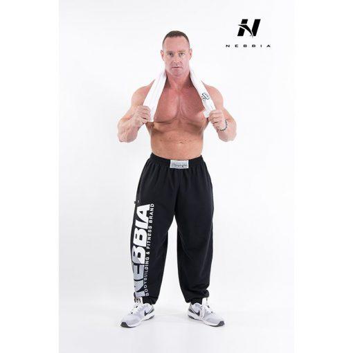 bodybuilding sweatpants zwart - nebbia hard core sweatpants 310-2